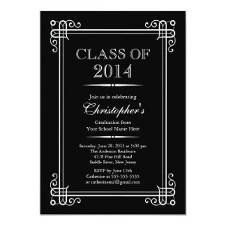 Formal Elegant Class of 2014 Graduation Party Personalized Announcements