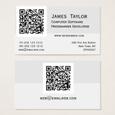 Formal Elegant Computer Programmer | Professional Business Card at Zazzle