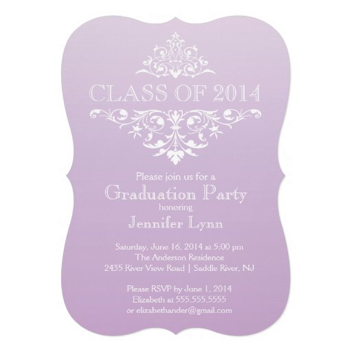 Formal Elegant Flourish Graduation Party Invitation