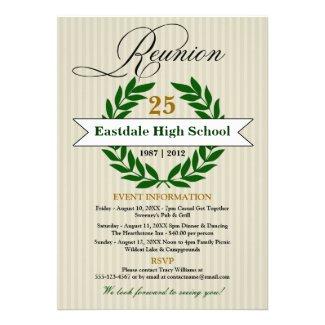 Formal Elegant High School Reunion Announcement