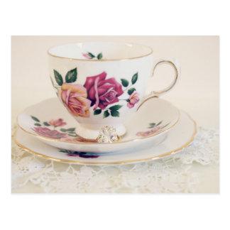 Formal Engagement, tea postcard, invite, Postcard