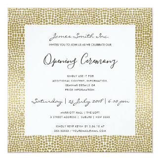 FORMAL FAUX GOLD MOSAIC DOTS OPENING CEREMONY CARD