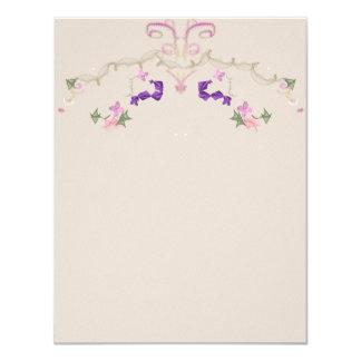 Formal floral garland invitation