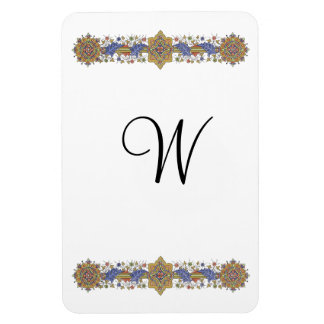 Formal Floral with Gold Custom Monogram Magnet