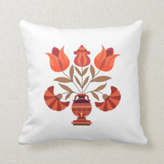 Formal Flowers Throw Pillow