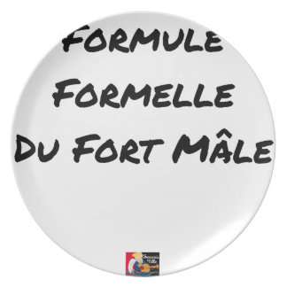 FORMAL FORMULA OF the STRONG MALE - Word games Plate