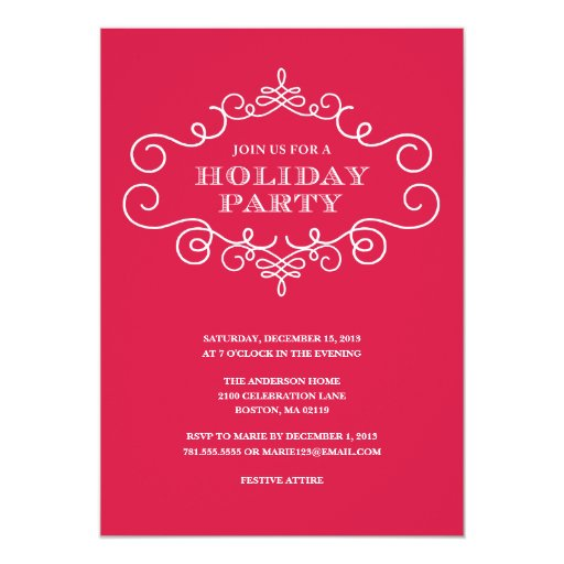 formal christmas party invitations