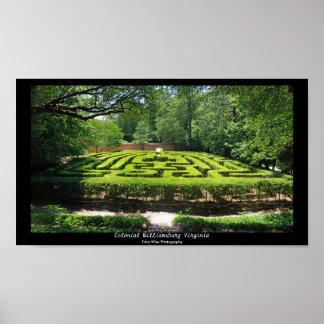 Formal Garden Maze Poster