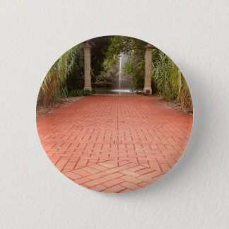 Formal Garden Path to Water Fountain Button