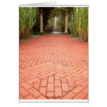 Formal Garden Path to Water Fountain Cards