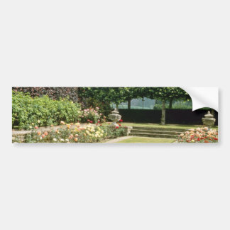 Formal Garden With Roses flowers Bumper Sticker