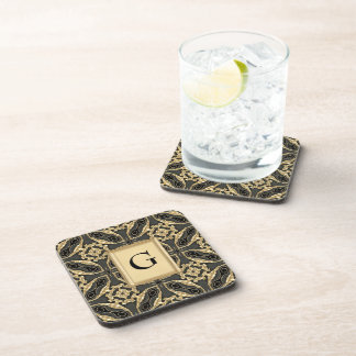 Formal Gold Lace Drink Coaster