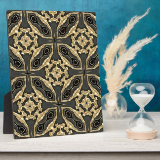 Formal Gold Lace Display Plaques