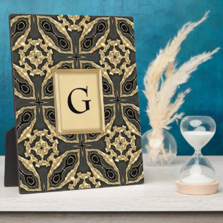 Formal Gold Lace Plaque