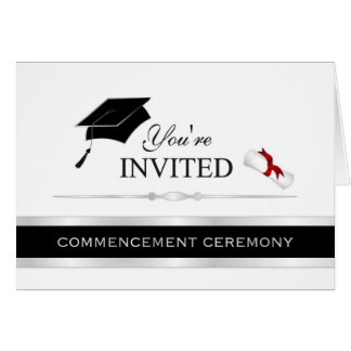 Formal Graduation Commencement Invitations Greeting Cards