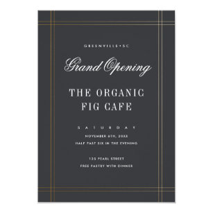 Formal 5x7 graduation invitations zazzle formal grand opening buisness invitation stopboris Images