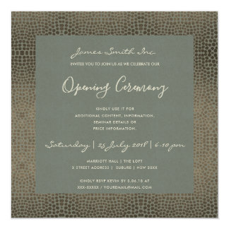 FORMAL GREY COPPER MOSAIC DOTS OPENING CEREMONY CARD