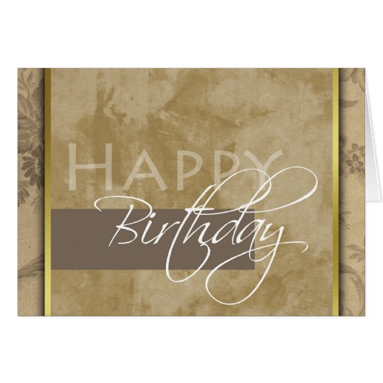 Formal Happy Birthday Greeting Card
