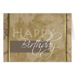 Formal Happy Birthday Greeting Card Card