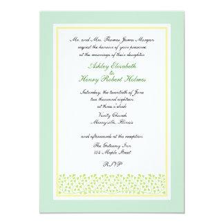 Formal Heart Shaped Leaves Wedding Invitation