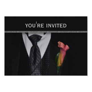 Formal invitation with tuxedo