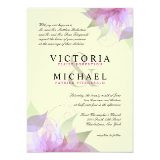 Formal Lavender Ivory Floral Wedding Invitations
