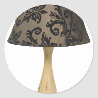 Formal leafy lamp classic round sticker