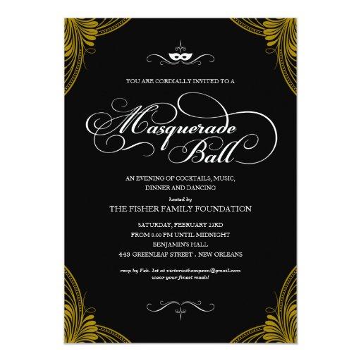 Masked Ball Invitations as adorable invitation design