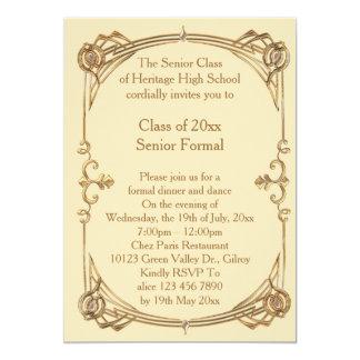 """formal mayor de la clase del baile de fin de curso invitación 5"""" x 7"""""""