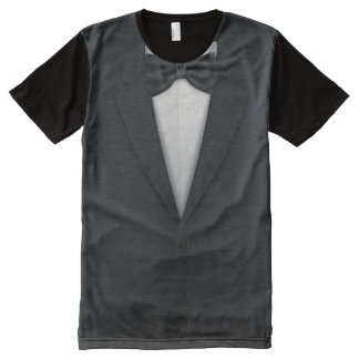 Formal Men's Tuxedo Tux All-Over-Print Shirt