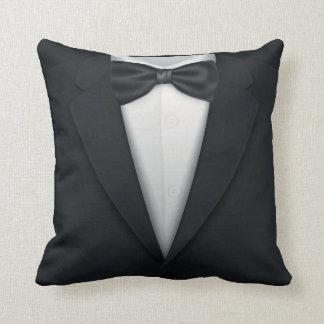 Formal Mens' Tuxedo Tux Throw Pillow