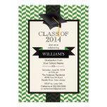 Formal Modern Chevron Graduation Party Invitation