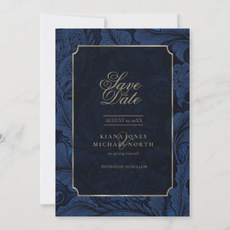 Formal Paisley Wedding Gold ID767 Save The Date