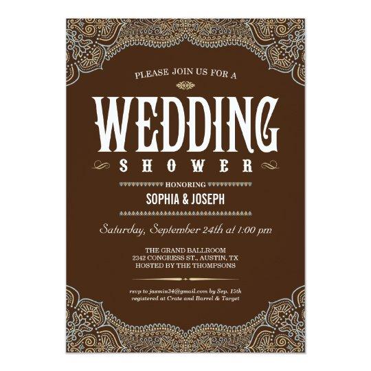 Formal Paisley Wedding Shower Invitations