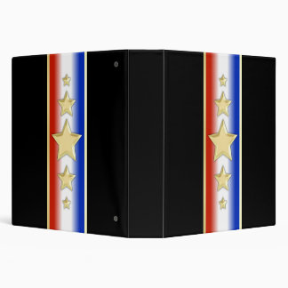 Formal Patriotic Stars Binder
