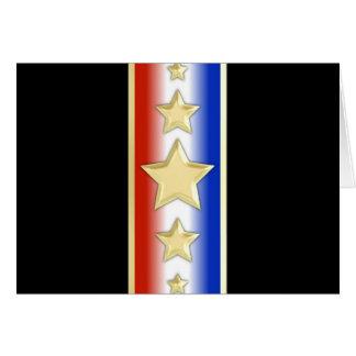 Formal Patriotic Stars Greeting Card
