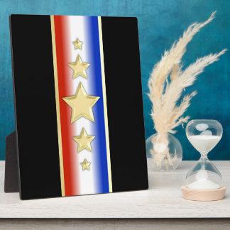 Formal Patriotic Stars Photo Plaque