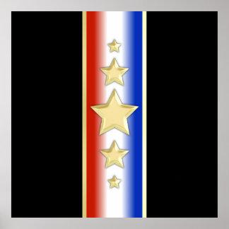 Formal Patriotic Stars Print