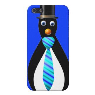 Formal Penguins: Blue iPhone SE/5/5s Case