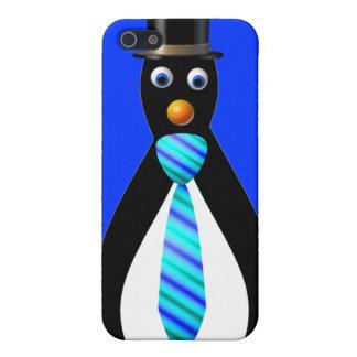 Formal Penguins: Blue iPhone SE/5/5s Cover