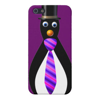 Formal Penguins: Purple iPhone SE/5/5s Cover