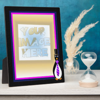 Formal Penguins Purple Display Plaques