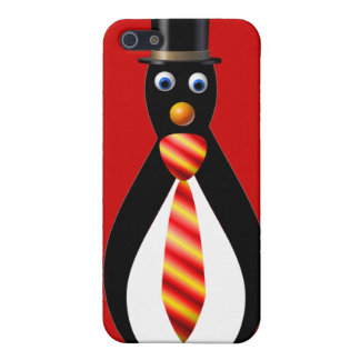 Formal Penguins: Red and Yellow Case For iPhone SE/5/5s