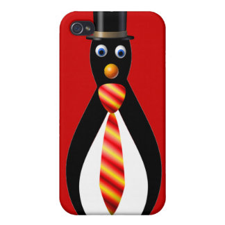 Formal Penguins: Red and Yellow iPhone 4 Cover