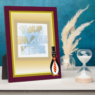 Formal Penguins Red and Yellow Display Plaque
