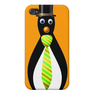 Formal Penguins: Yellow and Green iPhone 4/4S Cases