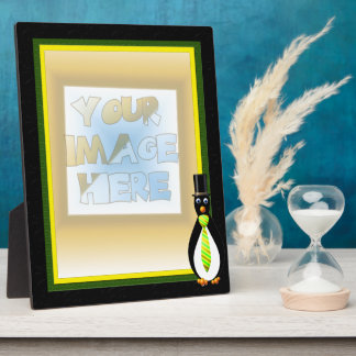 Formal Penguins Yellow and Green Display Plaques