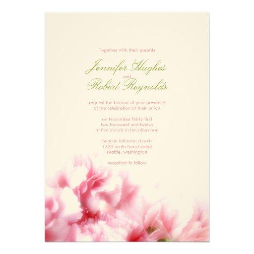 Formal Pink Wedding Invitation