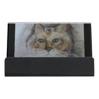 Formal Portrait Startled Stella Bus. Card Holder Desk Business Card Holder