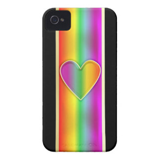 Formal Rainbow Heart iPhone 4 Cover